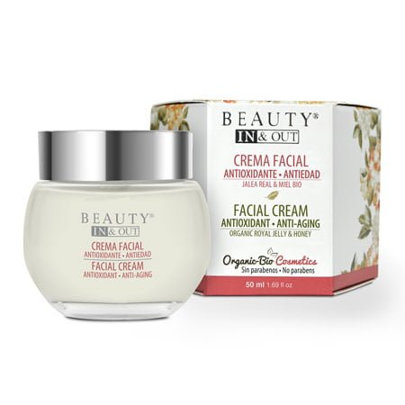Creme facial antioxidante anti-envelhecimento Beauty In&Out